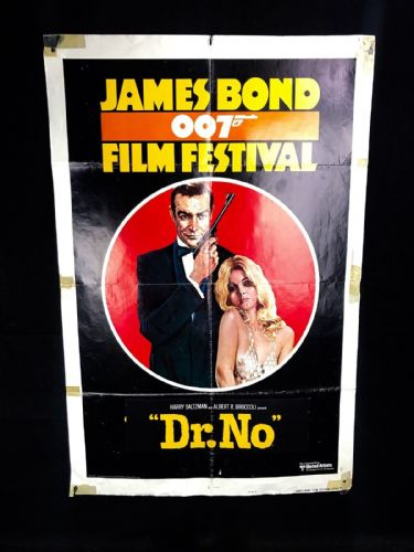 Original 1962 DR No James Bond 007 Advertising Poster United Artists Memorabilia